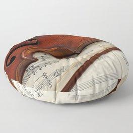 Old violin Floor Pillow
