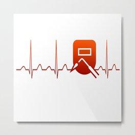 WELDER HEARTBEAT Metal Print