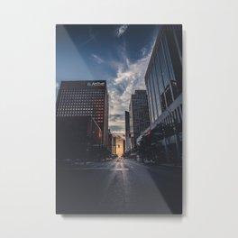 Downtown Grows Darker Metal Print