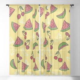 Watermelon Harvest Sheer Curtain