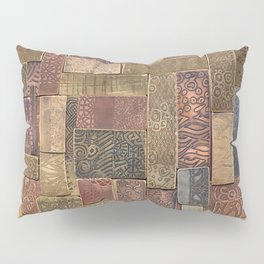 Etched Metal Patchwork Pillow Sham