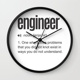 Funny Engineer Definition Wall Clock