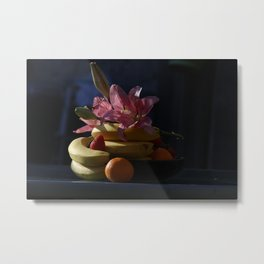 Fruit and flower composition Metal Print