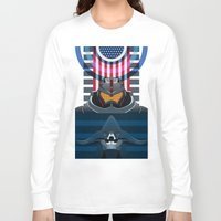 pacific rim Long Sleeve T-shirts featuring Pacific Rim, Jaws edition by milanova
