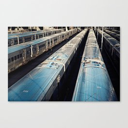 Subway Trains, New York Canvas Print