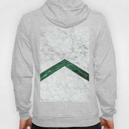 Arrows - White Marble & Green Granite #849 Hoody