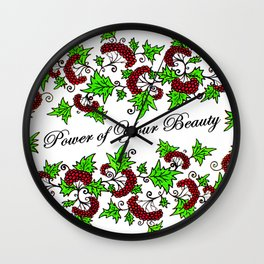 Kalina - Power of Your Beauty - Guelder Rose Wall Clock