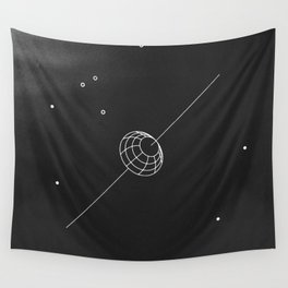 artificial body placed in orbit Wall Tapestry