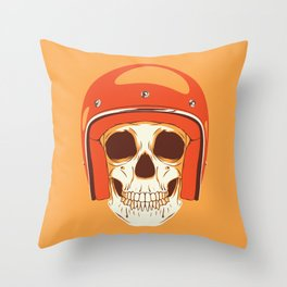 Helmet Skull Throw Pillow