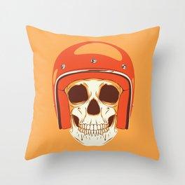 Helmet Skull Throw Pillow