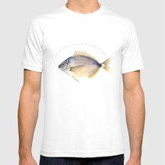 Stop the plastic pollution of oceans and seas! White Mens Fitted Tee MEDIUM