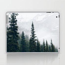 Evergreens in the fog Laptop & iPad Skin
