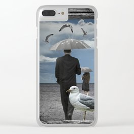 Weathering the Gulls Clear iPhone Case