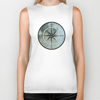 compass Biker Tanks featuring Compass by madbiffymorghulis