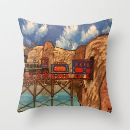 Jupiter Choo Choo Throw Pillow