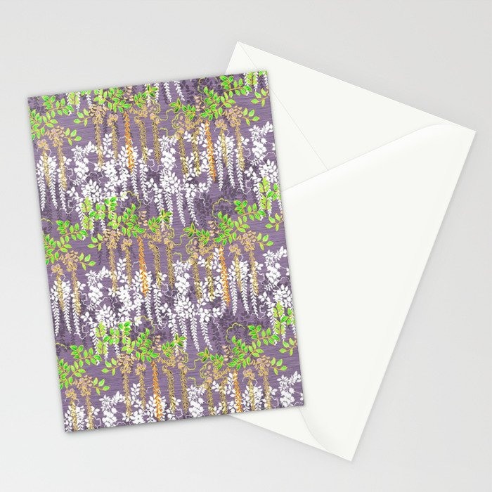 Oriental floral vine pattern Stationery Cards