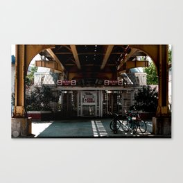 Underpass Overgrow Canvas Print