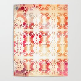 Tie Dye Vintage Abstract Poster