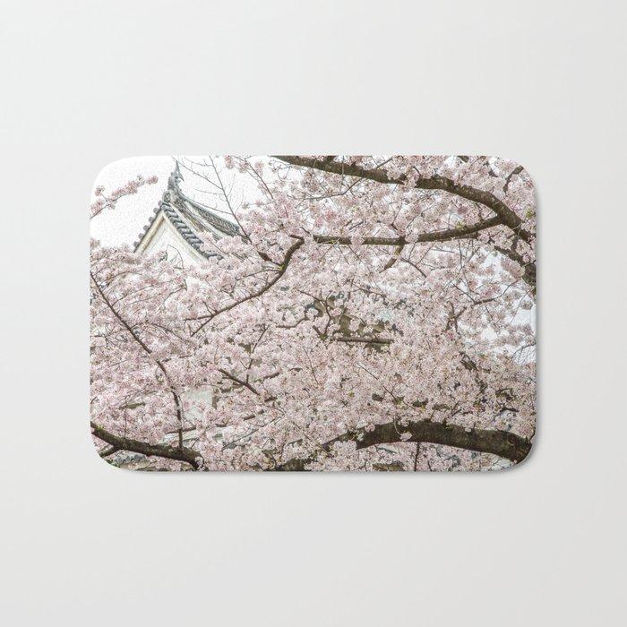 Cherry Blossoms in Osaka Japan Bath Mat