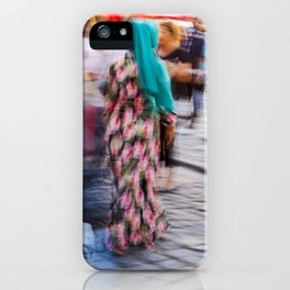 Turkish woman wearing colorful clothes iPhone Case