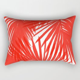 Palms Red Hot Rectangular Pillow