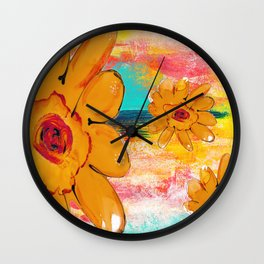 ALTERNATE UNIVERSE FLORAL Wall Clock