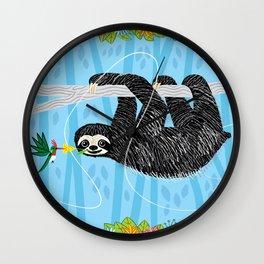 The Sloth and The Hummingbird Wall Clock