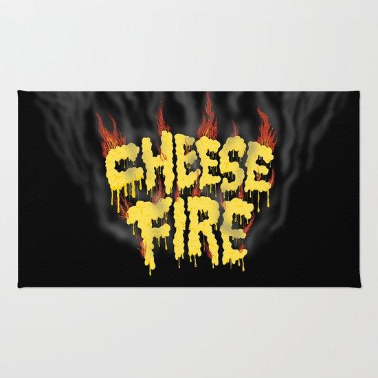 CHEESE FIRE!!! Rug