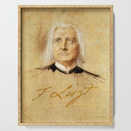 Franz Liszt (1811-1886). Painting by Franz Von Lenbach Serving Tray