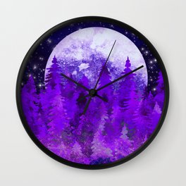 Twilight In The Forest Wall Clock