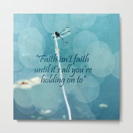 Holding On Metal Print