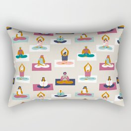 Morning yoga Rectangular Pillow