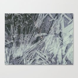 Jagged vacance, thick with ice Canvas Print