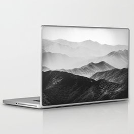 Glimpse - Black and White Mountains Landscape Nature Photography Laptop & iPad Skin