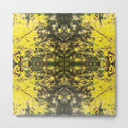 Abstract Fall Mandala Yellow 1523 Metal Print