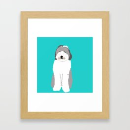 Lucy The Sheepadoodle Framed Art Print