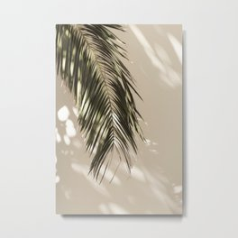 Palm Leaf Shadow Summer Metal Print
