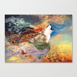 The spirit Wolf Abstract Canvas Print