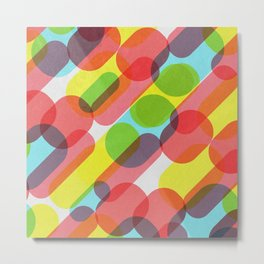 Bubble Burst Pattern Metal Print
