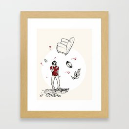 The Breakup Framed Art Print