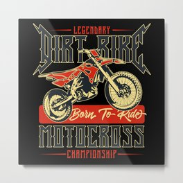 Motorcycle - Bike Legends - 04 - dark Metal Print