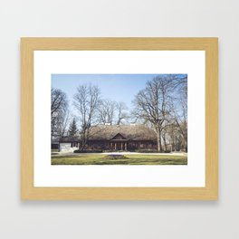 Larch manor house Framed Art Print
