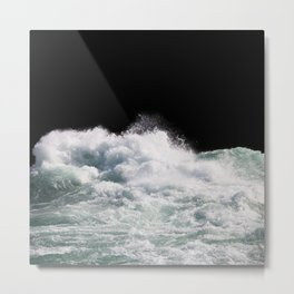 Water Photography | Wild Rapids | Waves | Ocean | Sea Minimalism Metal Print