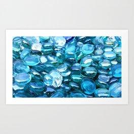 Blue Green Crystal Art Print