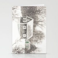cape cod Stationery Cards featuring Cape Cod Snowstorm by ELIZABETH THOMAS Photography of Cape Cod