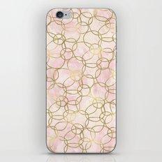 Gold Pink Watercolor Circles Abstract iPhone & iPod Skin