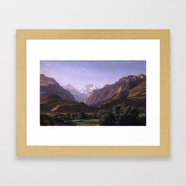 Alexandre Calame (1810 - 1864), The Jungfrau Massif seen from Unterseen near Interlaken Framed Art Print