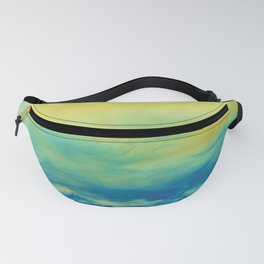 YELLOW & BLUE TOUCHING #1 #abstract #art #society6 Fanny Pack