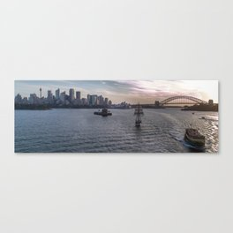 Sydney Harbor at Sunset Canvas Print