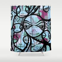 cabin Shower Curtains featuring Cabin Fever by Jeff Claassen